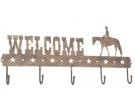 Metall Schild Garderobe `Welcome` Pleasu